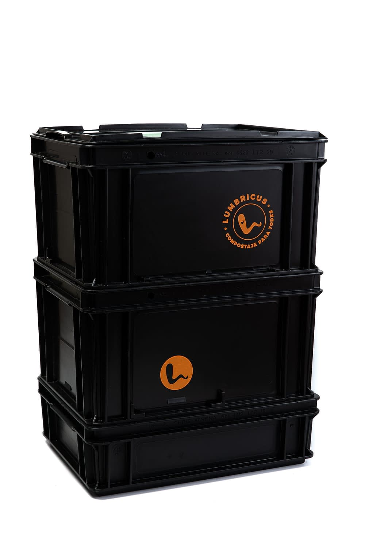 Compostera Lumbricus® 60lts Negra